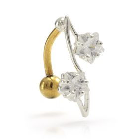 Twist on Gold PVD Navel