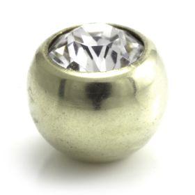 Zircon PVD Gold Ti Gem Ball