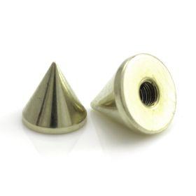 Zircon PVD Gold Ti Micro Plain Cone