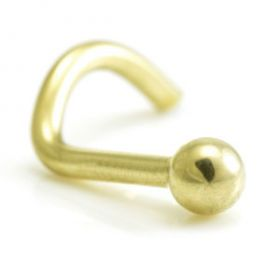Zircon PVD Gold Ball Nose Studs