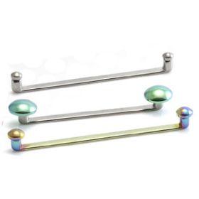Titanium Internal Thread Flat Surface Bar with Flat Disks