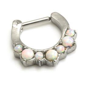 REDUCED Steel Opal Septum Ring