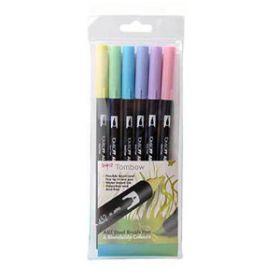 6 Pastel Coloured Tombow Pens (ABT-6C-2)
