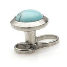 Ti Micro Dermal Anchor + Turquoise Disk