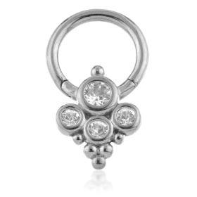 Steel Couture Caeli Gem Cluster Hinge Segment Ring