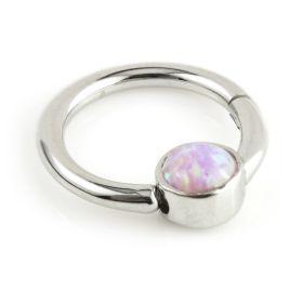 Titanium Opal Hinge Segment Ring