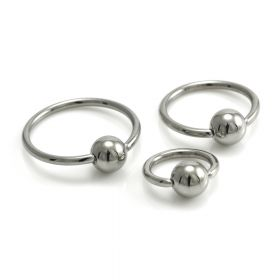 Steel BCR with Steel Ball - 1mm