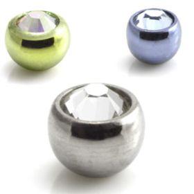 25 x Ti Micro Mixed Gem Balls 3mm