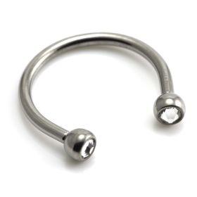 Ti Micro Circular Barbell with Gems