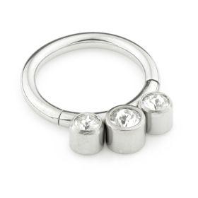 Titanium Jewel Hinged Segment Ring