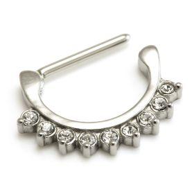 Cast Steel Gems Nipple Clicker