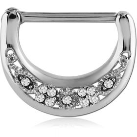 Cast Steel Filigree Gems Nipple Clicker