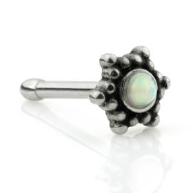 Opal Tribal Star Steel Nose Bone
