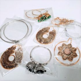 Vale Brass Earring Mixed bag approx. 5 Pairs