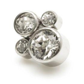 Titanium Internal Thread Quad Gems