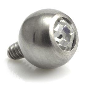 Titanium Internal Thread Gem Ball