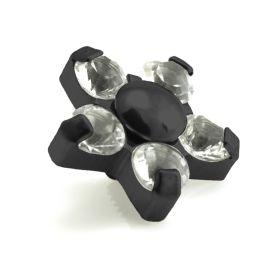 Evil Black Titanium Gem Flower - 5 Petals 1.6mm