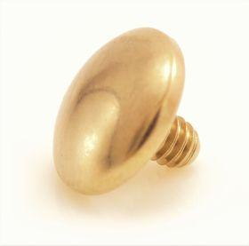 Yellow Gold Internal PVD Ti Plain Disk 1.2mm