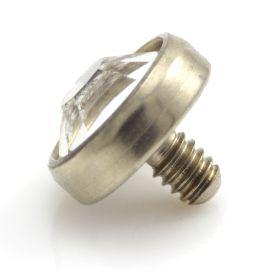 Zircon Crystal Jewel Gold Ti Internal Disk