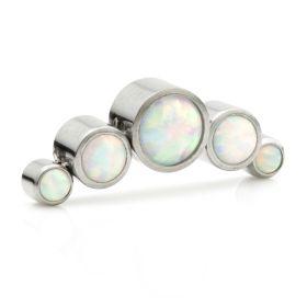 Titanium Opal Micro Crescent Top - 1.2mm
