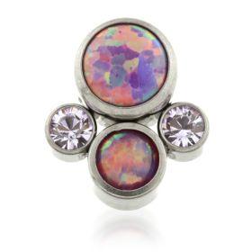 Titanium Micro Quad Opal Gems - Purple