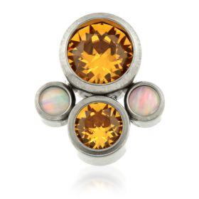 Titanium Micro Quad Opal Gems -Topaz