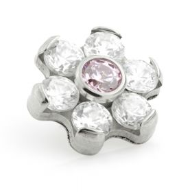 Ti Couture Internal Ti Gem Flower Attachment Crystal & Light Rose