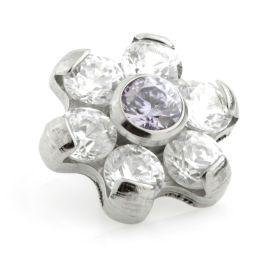 Ti Couture Internal Ti Gem Flower Attachment Crystal & Light Amethyst