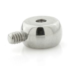 Internal Ti Micro Flat Ball Attachment with 0.9mm Threading Hole