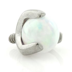 Titanium Opal Claw Set Ball Attachment