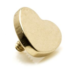 Rose Gold PVD Ti Internal Micro Heart