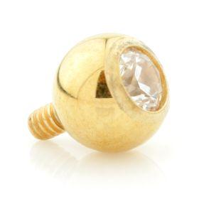 Yellow Gold Internal PVD Ti Gem Ball 1.6mm