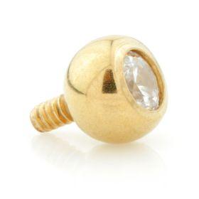 Yellow Gold Internal PVD Ti Gem Ball 1.2mm
