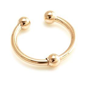 Rose Gold Fake Steel Ball Septum Ring