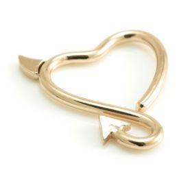 Rose Gold Steel Horny Heart Ring