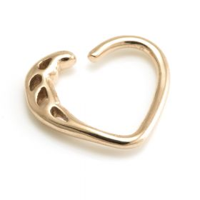 Rose Gold Steel Cast Heart Ring