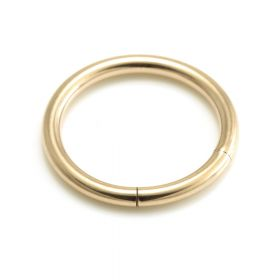 Rose Gold Steel Segment Ring