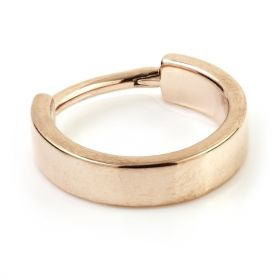 Rose Gold Steel Hinged Flat Conch Ring
