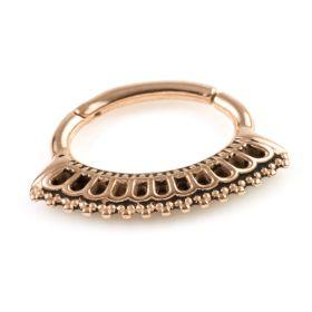 Rose Gold Steel Hinge Daith Ring