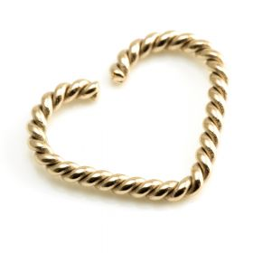 Rose Gold Steel Twisted Heart Ring