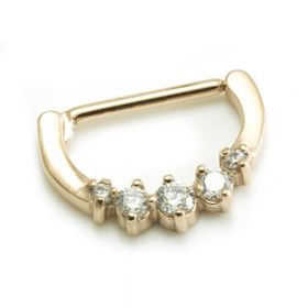Rose Gold Steel Gems Nipple Clicker