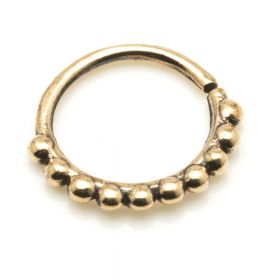 1x Rose Bronze Open Nose Ring