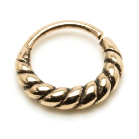 1x Rose Bronze Rope Open Ring