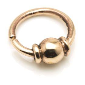 1x Rose Bronze Ball Open Ring