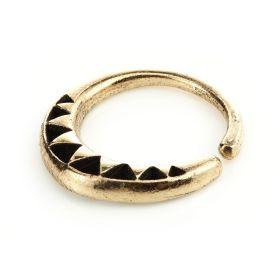 1x Rose Bronze Triangular Open Ring