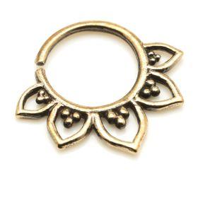 1x Rose Bronze Lotus Flower Open Ring