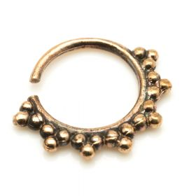 1x Rose Bronze Afghan Open Ring