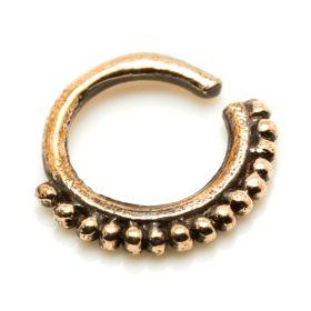 1x Tribal Rose Bronze Open Ring