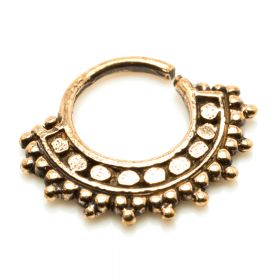 1x Afghan Style Rose Bronze Open Ring