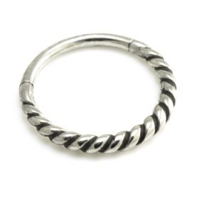 Twisted Steel Hinge Segment Ring